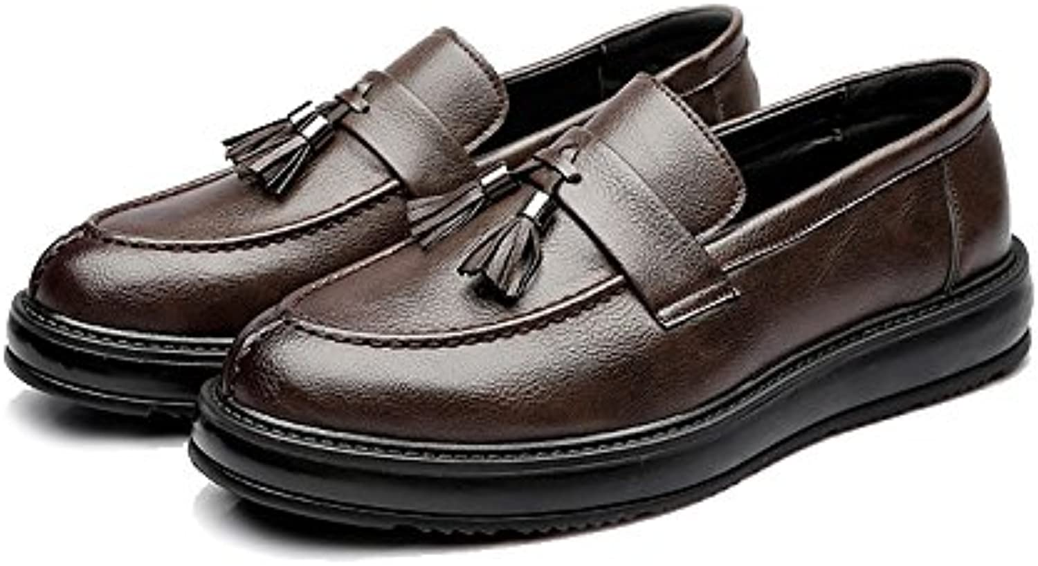 Xujw shoes  2018 Schuhe herren  Herren Business PU Lederschuhe Klassische Slip on Loafers Quaste Anhaumlnger Dekoration