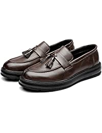 434350e47149c Dundun-shoes 2018 Hommes Affaires PU Chaussures en Cuir Classique Slip-on  Mocassins Pompon