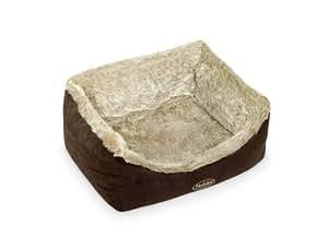 """Nobby 71173 Komfortbett für Hunde """"NELIOS"""", 100 x 90 x 25 cm, braun / beige"""