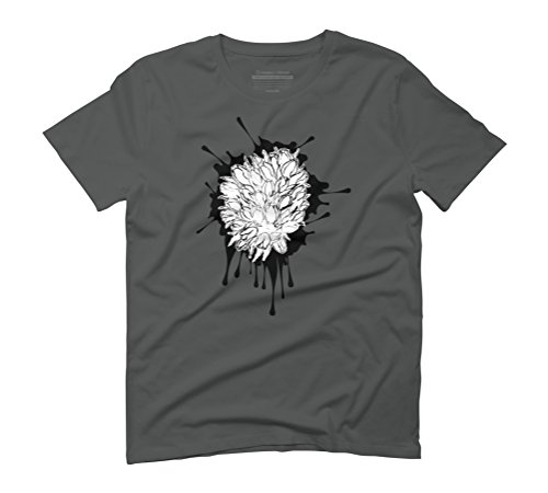 Grunge tulips sketch Men's Graphic T-Shirt - Design By Humans Anthracite