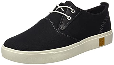 Timberland Men's Amherst Ptojet Oxford, Black (Jet Black Cotton Canvas), 11 UK