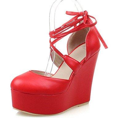 KYDJ @ Bébé-Mariage Extérieure Bureau & Travail Habillé Décontracté Soirée & Evénement-Noir Rouge Blanc-Talon Compensé-Autre-Chaussures à Talons- Black