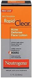 Neutrogena Rapid Clear Acne Defense Face Lotion 1.7 Fluid Ounce