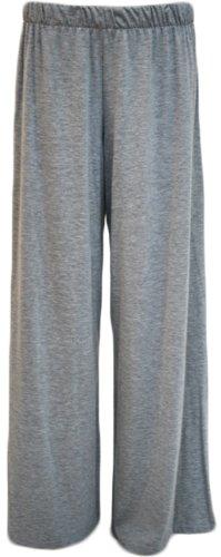 Women's Grey Wide Leg Palazzo Pants. Plus Size 20-22