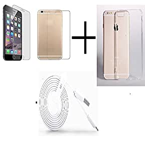OPUS Curve 2.5D TEMPERED GLASS FOR Iphone 6 (Front & Back) + TRANSPANRENT BACK COVER FREE + USB CABLE