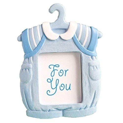 Brussels08 Kleid Form Wand Bilderrahmen Schreibtisch Ständer Bilderrahmen Decor Baby Kinder Geburtstag Kunstharz Bild Rahmen für Unisex Baby Dusche REGISTRY Geschenk, blau, 7cm*9cm