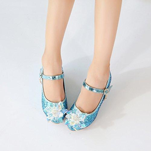Wuyulunbi@ tacchi alti per eseguire la danza delle prestazioni cassoncino di pulizia scarpe Tallone blu