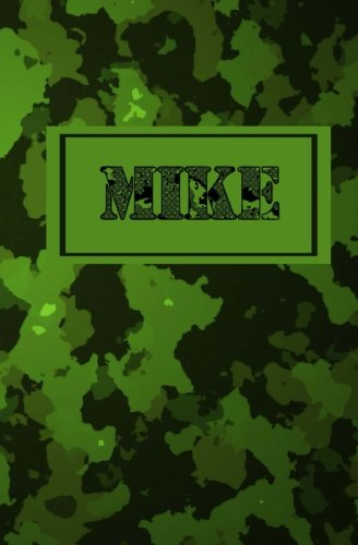 Mike: Personalized Name Journal (Camo Personal Journal)