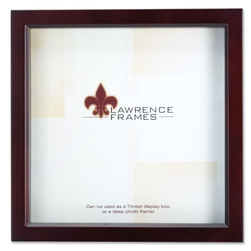 Lawrence Frames 795155 Wood Treasure Shadow Box Picture Frame, 5 X 5 Inch , Espresso by Lawrence Frames