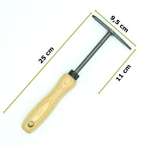 4betterdays Fugenkratzer mit 14 cm ergonomischem Eschenholzstiel Gewicht: 150 g – Handgeschmiedet in Deutschland