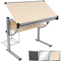 Miadomodo®–Desk Beech Youth Adjustable in height