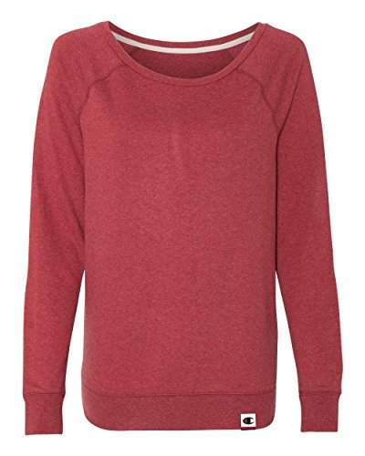 Champion Womens Authentic Originals French Terry Crew (AO550) -Carmine Re -2XL Red French Terry