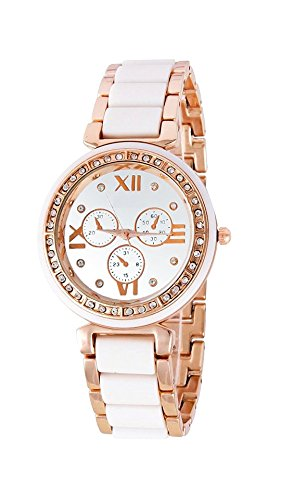 Watches for Womens (Ms Enterprise Round Analogue White Dial watch for girls - MS-N-BENL-W-12)