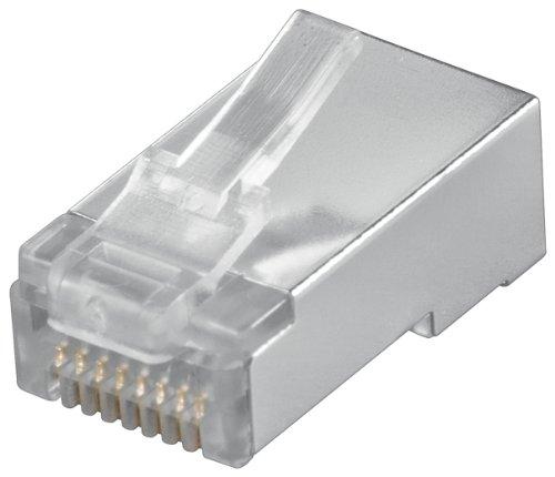 Preisvergleich Produktbild Wentronic Modularstecker RJ45 für Flachkabel (geschirmt, 8P8C)