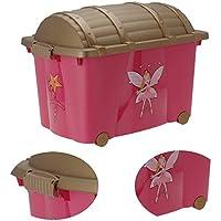 Preisvergleich für LS-LebenStil LS Schatzkiste Schatztruhe Prinzessin Spielzeugkiste Rollbox