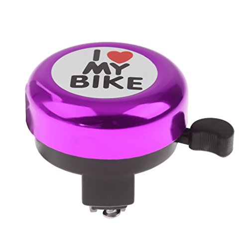 Boys Girls Bike Bell Children Kid Bicycle Ring Kids Cycling Ringer Sound - Purple