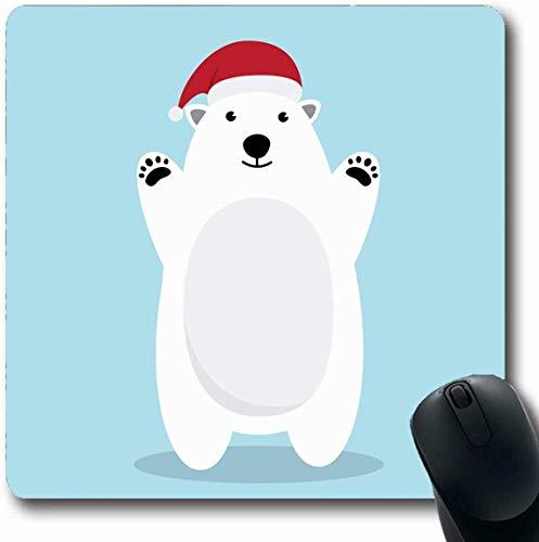 Cute Kostüm Polar Bear - Luancrop Mousepad Oblong Bear Brown Weihnachten Polar Character Cute Kostüm Ferien Maskottchen Nordpol Santa Snow Design Einfrieren Office Computer Laptop Notebook Mauspad, rutschfeste Gummi