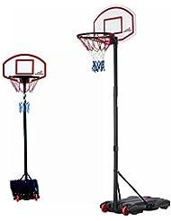 Woodworm - Canasta de baloncesto portátil, ajustable de 165 a 210 cm, con ruedas