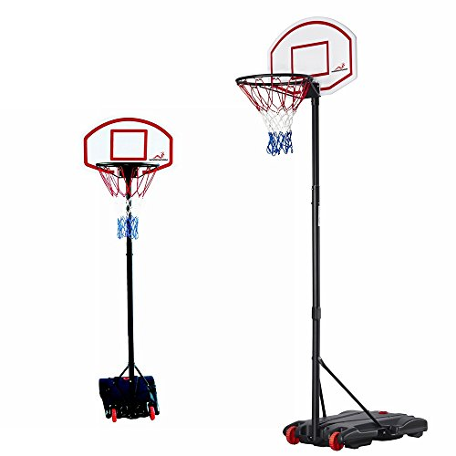 41F5DzC5WYL - Woodworm Adjustable 165-210cm Portable Basketball Hoop Net System on Wheels sports best price Review uk