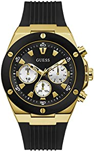 GUESS Mens Quartz Watch, Analog Display and Silicone Strap GW0057G1
