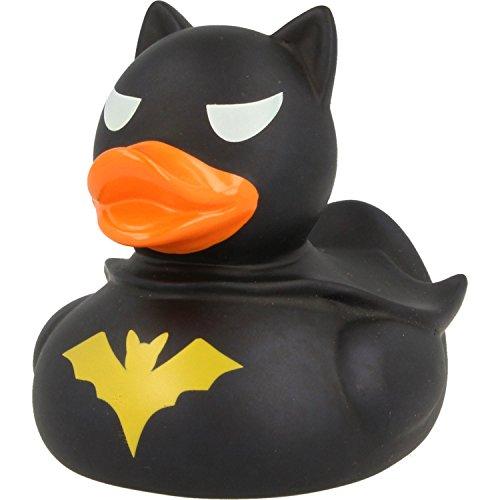 LiLaLu Badeente Gummiente Schwimmente Sammeln Ente Halloween Superheld Krone: Art: Dark Duck- Ente - 2
