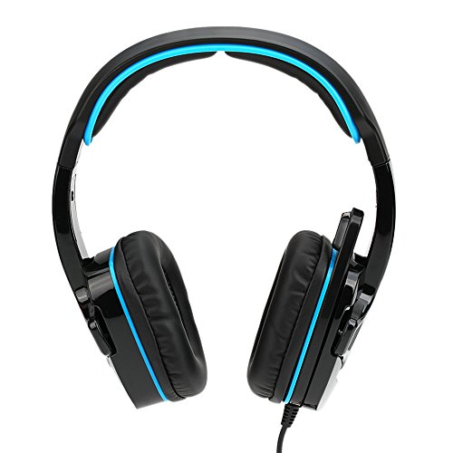 SADES SA-708GT 3.5mm Gaming Kopfhörer Mic Noise Cancellation Musik Headset Schwarz-blau Upgrade Version von SA-708 für PS4 XBOX 360 Tablet PC Handys thumbnail