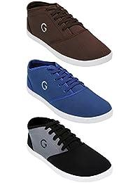 Globalite Men's Cotton Combo Of 3 Sneakers