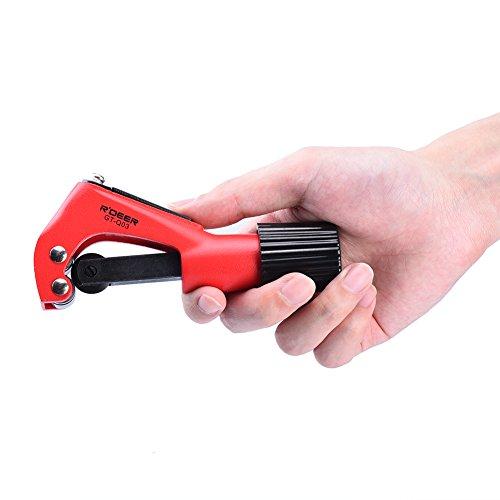 TOOLTOO Fast Rohrschneider Zinklegierung Rohrschneider Durable Rohr Schneidwerkzeuge, komfortable Griff, schwarz und rot, ideal zum Schneiden