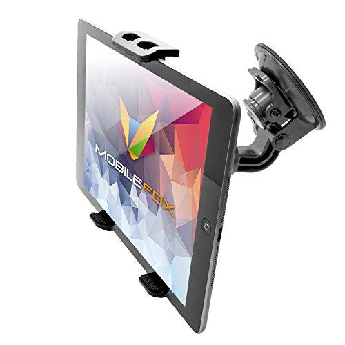 mobilefox® 360° KFZ Saugfnapf Tablet Halterung Auto Windschutzscheiben Halter für Apple iPad/Pro