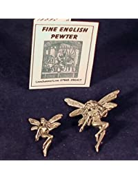 Caja de regalo de estaño sombrero pasador broche de hadas de la danza Fairie placa (2)