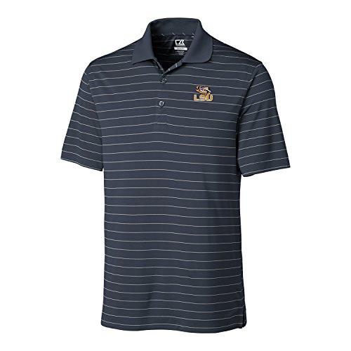Cutter & Buck NCAA Herren CB Dry Tec Franklin Stripe Poloshirt, Herren, CB DrytecTM Franklin Stripe Polo, Onyx, XX-Large - Cutter Buck Golf-bekleidung