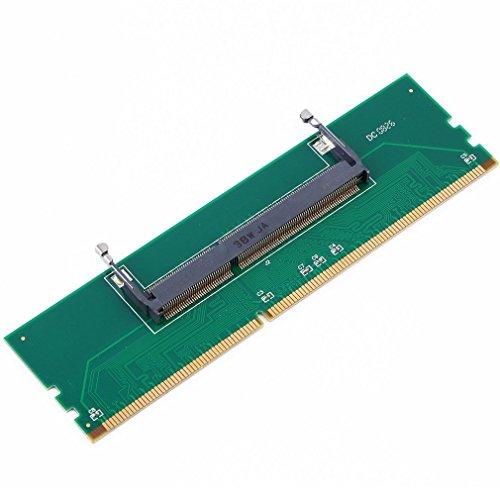 Leoboone Professional DDR3 Laptop SO-DIMM zu Desktop DIMM Speicher RAM Anschluss Desktop Adapter Card Memory Tester Grün (Tester Memory)