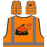 Orange Mann Essen Geschenk für Chef Neuheit Lustig Personalisierte High Visibility Orange Sicherheitsjacke Weste c333vo
