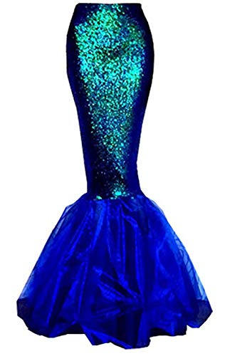 Beauty GO Frauen Halloween Costume Cosplay Mermaid Fancy Dress Abendröcke (M, Blue)