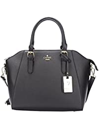 [Sponsored]Cathy London Women's Handbag, Material- Synthetic Leather, Colour- Black