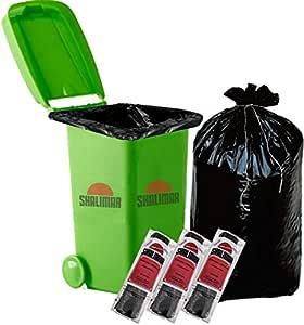 Shalimar Premium Garbage Bags (Jumbo XL) Size 107 cm x 122 cm 3 Rolls (30 Bags) (Trash Bag/Dustbin Bag) (Black)