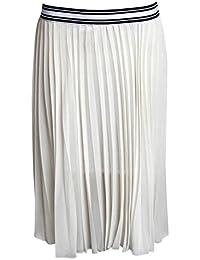 PILOT® Women's Pleated Midi Skirt in Cream