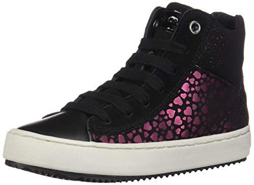 Geox Mädchen J Kalispera Girl D Hohe Sneaker, Schwarz (Black C9999), 36 EU