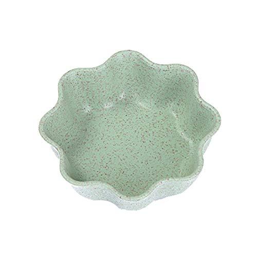 Matthew00Felix Home Küche Weizenstroh Würzen Teller Kunststoff-Runde Pickles kleine Dish - Blue Pickle Dish