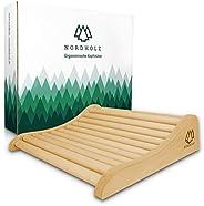 Sauna Kopfstütze Holz - 37x33cm ideale Breite für den optimalen Liegekomfort - Sauna Kopfstütze Ergonomisch ha