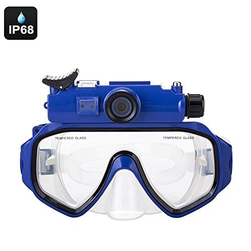 Sport Kamera Schwimmbrille, IP68Wasserdicht, 90Grad-Objektiv, 1/6,3cm CMOS, 5MP Bilder, 720p...