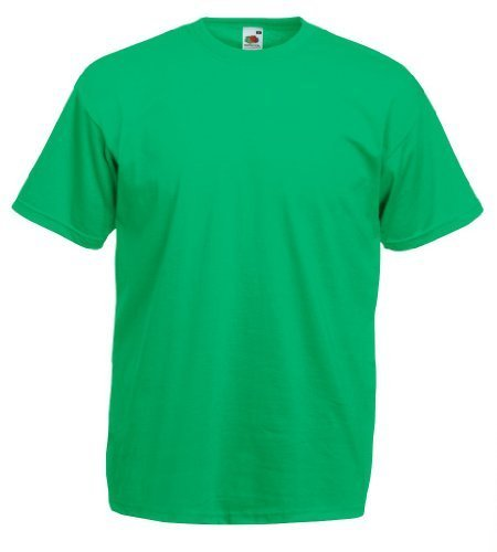Fruit of the Loom - Classic T-Shirt 'Value Weight' M,Kelly - Fruit Of The Loom Kostüm