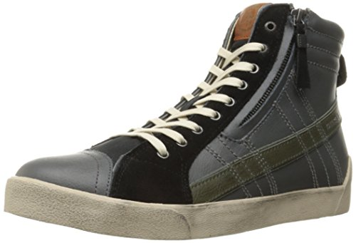 DIESEL Y01169 P0919 D-STRING GREY BLACK SNEAKERS Homme GREY BLACK 45