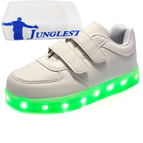 [Present:Kleines Handtuch] Schwarz 2 EU 38, LED Unisex-Erwachsene mit Aufladen USB Weise Leuchten