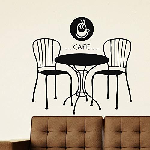yaoxingfu Wandaufkleber Coffee Shop Vinyl Wandtattoo Cafe Restaurant Design Wandaufkleber Schaufenster Aufkleber Kaffee Tee Dekoration A 42x41cm Bass Camouflage Cap