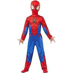 Rubie's 640840S SPIDERMAN Marvel - Disfraz infantil clásico de Spider-Man para niños, talla pequeña