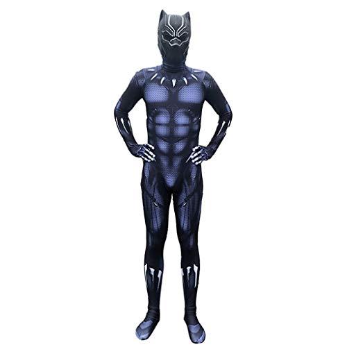Morph33 Vestiti di Pantera Nera Capitan America 3 Giochi di Ruolo Costume Costumi Elastici per Adulti Costumi teatrali Film Prop ( Color : Nero , Size : L. )