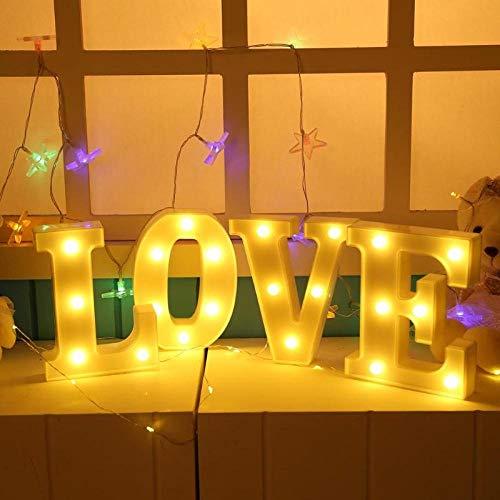 TDSFRL laji Kindernachtlicht 3D 26 Buchstaben Leuchtbuchstaben LED-Leuchten Innenwandbehang Nachtlichter -