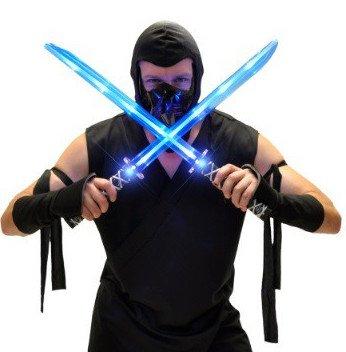 Ninja Samurai Schwert Led Leucht Schwert Spielzeug Kinder Katana Säbel Messer Waffe Ledschwert Lichtschwert Kostüm Verkleidung Leuchtschwert (Ninja Star Kostüme)