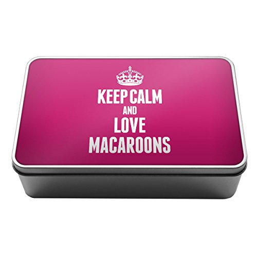 Rosa Keep Calm And Love Macaron scatola di latta di metallo 1242